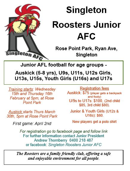 junior rego flyer